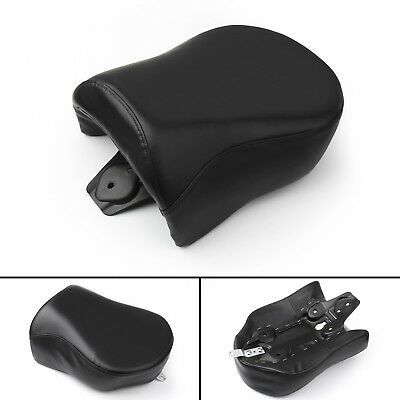 Black Motorcycle Rear Passenger Pillion Seat For Harley Dyna FXD FXDL 06-09 BS1