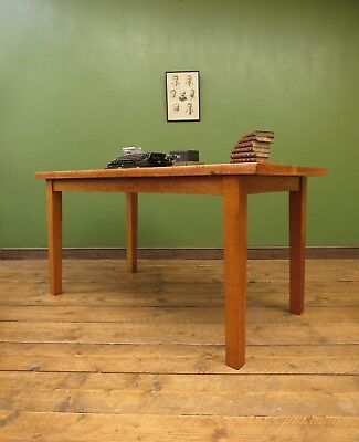 Oak Table Desk Mid Century Architects Drafting Table