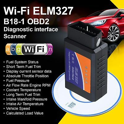 ELM327 WiFi OBD2 Bluetooth Car Auto Scan Torque OBD-II Tool For Android / iOS#AI