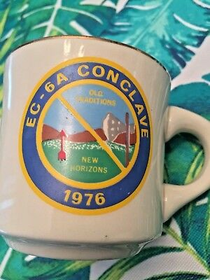 1976 Ec-6A Conclave Boy Scouts Coffee Mug Old Traditions New Horizons Cup
