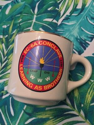 BSA 1977 LEARNING AS BROTHERS COCLAVE CAMP OYO Coffee Cup Boy Scouts Mug