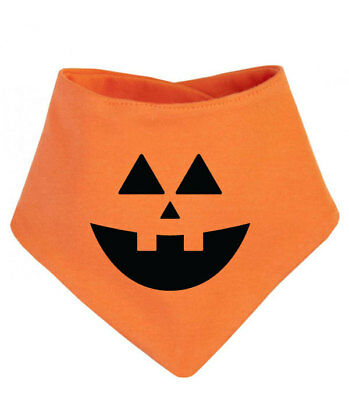 Pumpkin Halloween Baby Bandana Dribble Bib, Orange Bib, First Halloween costume