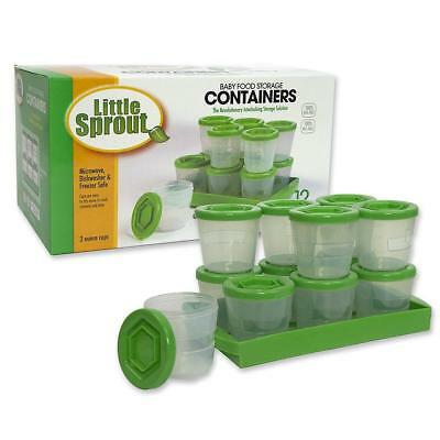 Baby Food Containers: Reusable Stackable Freezer Safe Storage Cups w/Tray &