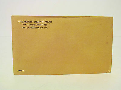 1961 P Proof Set Original Envelope 90% Silver Franklin US Mint 5 Coin
