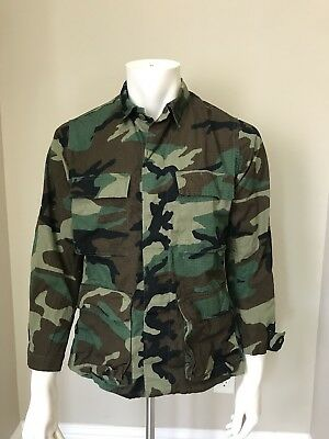 705e38eee030f US Military Woodland Camouflage Camo Coat Jacket Small-Regular 8415-01-184-