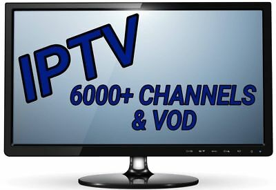 IPTV 12 Month Subscription Gift Warranty (6000+ Chan & VOD) PREMIUM BEST ON EBAY