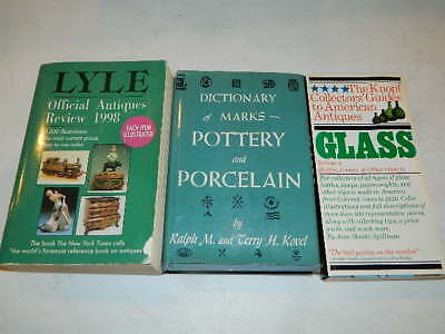 Lyle Antiques Review Book Dictionary of Marks Pottery Porcelain Knopf Glass