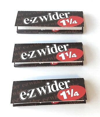 E-Z Wider tobacco Rolling Papers Size 1 1/4 3 Packs