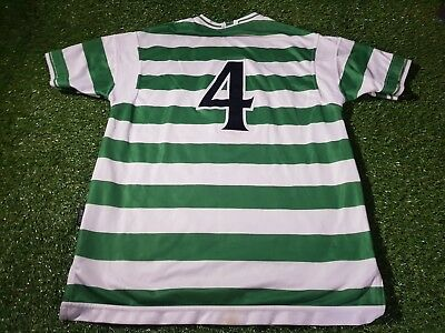 celtic fc signed football extra large mans match worn no4 1999 home shirt