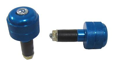 Bar End Weights for Alloy MX Handlebars Blue