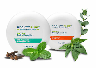 Natural Warming and Cooling Muscle Balm Combo Pack - Rocket Pure (TM)