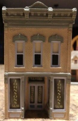 HO Scale Model Johnsons Five and Dime Store Ceramic Building Railroad Train New