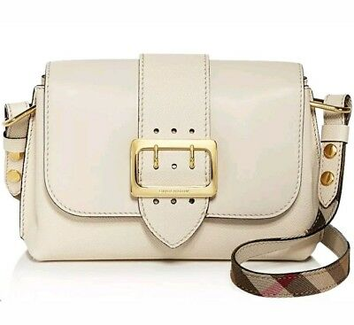 0e492a771723 BURBERRY SMALL MEDLEY Buckle Dusty Pink Leather Cross Body Bag  1495 ...