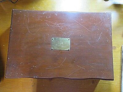 Vintage Reed & Barton Silverware Wooden Chest Case Only