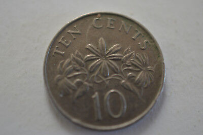 Singapore 1987 10 Cents Coin