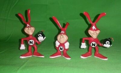 NOID FIGURINES Dominos Pizza Bendie Bomb AVOID THE NOID 80s
