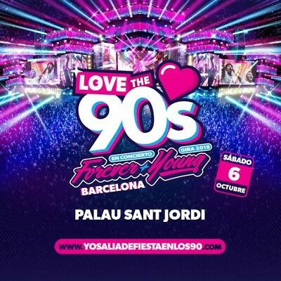 entrada concierto Love The 90's