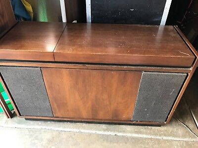 Vintage Teledyne Packard Bell stereo am/fm turntable Mid Cent mod Console works
