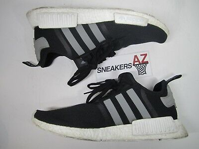 4e752fb65 ADIDAS NMD R1 Boost Black Mesh Charcoal Used Worn Size 12 S31504 -  59.99