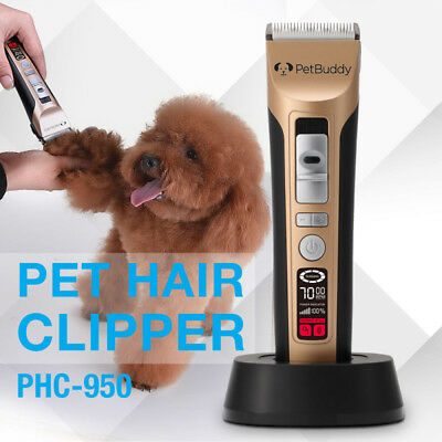 Pet Grooming Clippers Cordless 5 Speed 70 RPM Smart LED Screen for Dogs and Cats