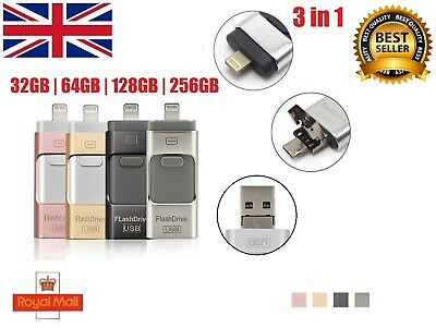 32/64/128/256GB iFlash OTG USB Drive Disk Stick Key Thumb For iPhone X 8 Android