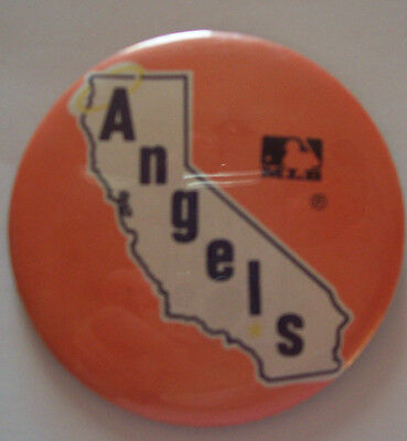 "Vintage Mlb California Angels  3 1/2"" Pinback Button"