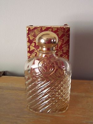 Vintage Avon Collectable Classic Crystal Flask In Original Box