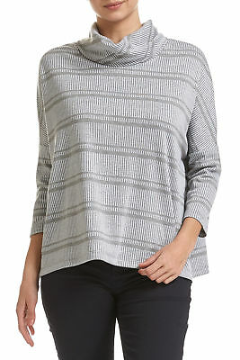 NEW Sportscraft Womens Amber Roll 3/4 Sleeve Blouse - Turtle Neck Fashion Outfit