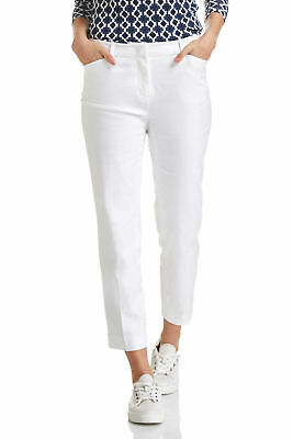 NEW Sportscraft Womens Martina Capri Length Pants - White Jeans Clean Finish