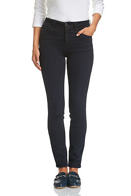 NEW Sportscraft Womens Jackie High Waist Skinny Fitted Pants - Dark Wash Denim