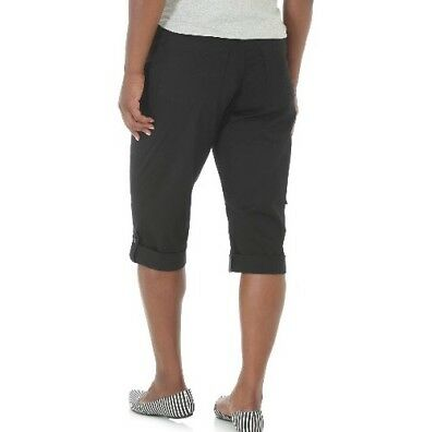 Riders By Lee Skimmer Capri Pants Mid Rise Black Size 6