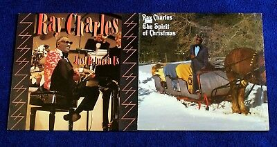 Ray Charles Vintage Vinyl The Spirit Of Christmas And Just Between Us Lot Of 2