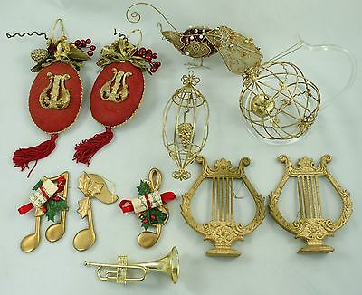 Vintage Assorted Red Gold Wire Christmas Ornament Holiday Tree Decoration Lot