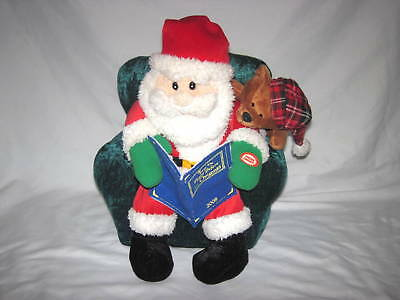 sound light animatronics twas the night before christmas talking santa plush - Christmas Animatronics