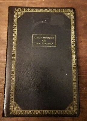 vintage daily budget tax record ledger book journal cash book
