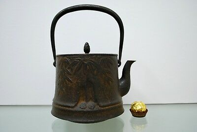 Old Antique Japanese Tetsubin Teapot Cast Iron, Meiji period