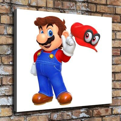 """12""""x14""""Super Mario HD Canvas prints Painting Home Decor Picture Wall art Poster"""