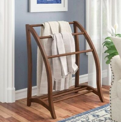 Quilt Rack Wood Blanket Stand Storage Display Towel Bar Large 3 Tier  Beechwood fa1bce20a