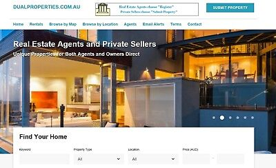 DualProperties.com.au AND DualProperties.net.au Red Hot Domains Includes Website