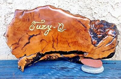"""Suzy-Q"" Trinket /jewelry Box Mid Century Carved Maple Burl Wood Handcrafted"