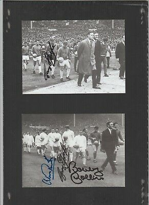 Signed card by Peacock, Sprake and Collins the Leeds Utd Footballers