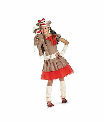 8c7077696e1 DISGUISE - GIRL'S Sock Monkey Costume Beige/Brown/Red Standard Packaging