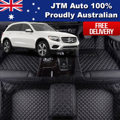 Custom Made to suit Mercedes Benz GLC Floor Mats Front + Rear Black 2015-2019