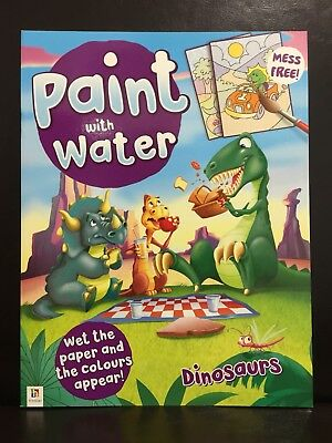 New - Paint With Water - Dinosaurs - Great Fun For The Children