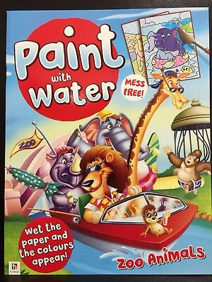 New - Paint With Water - Zoo Animals - Great Fun For The Children