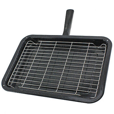 UNIVERSAL Oven Grill Pan Non Stick Medium Small Cooker Tray with Handle & Rack