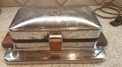 Vintage Dominion Model 1210A Waffle Iron Griddle - Burners Work