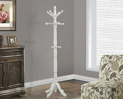 Monarch Stylish Antique White Traditional Solid Wood Coat Rack I 2013