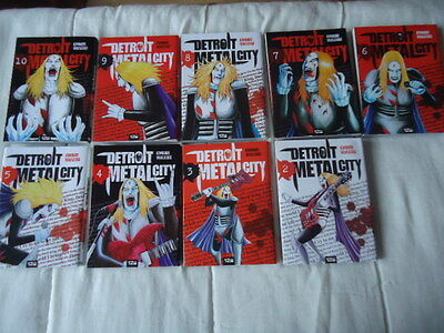 GROS LOT DETROIT METAL CITY 9 Tomes 2 3 4 5 6 7 8 9 10 DMC MANGA VF no complet