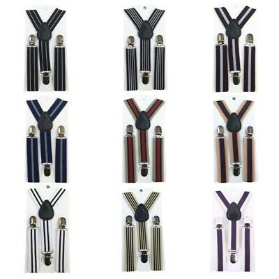 Kids Adjustable Braces Y-Back Toddler Clip-on Elastic Child Suspenders Brace